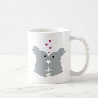 bunny kiss icon coffee mugs