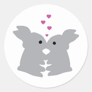 bunny kiss icon sticker