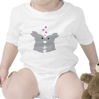 bunny kiss icon tshirts
