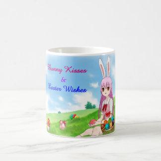 Bunny Kisses & Easter Wishes (Customizable) Coffee Mug
