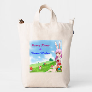 Bunny Kisses & Easter Wishes (Customizable) Duck Bag