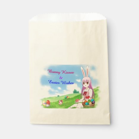 Bunny Kisses & Easter Wishes (Customizable) Favor Bag