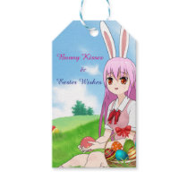 Bunny Kisses & Easter Wishes (Customizable) Gift Tags