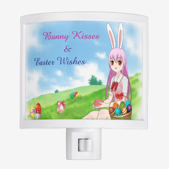 Bunny Kisses & Easter Wishes (Customizable) Night Light