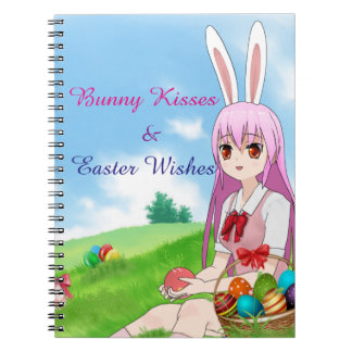 Bunny Kisses & Easter Wishes (Customizable) Notebook