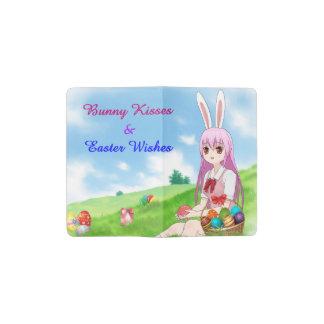 Bunny Kisses & Easter Wishes (Customizable) Pocket Moleskine Notebook