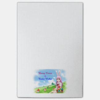 Bunny Kisses & Easter Wishes (Customizable) Post-it Notes