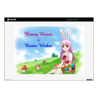 Bunny Kisses & Easter Wishes (Customizable) Skins For Laptops