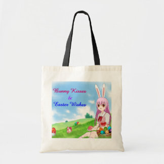 Bunny Kisses & Easter Wishes (Customizable) Tote Bag