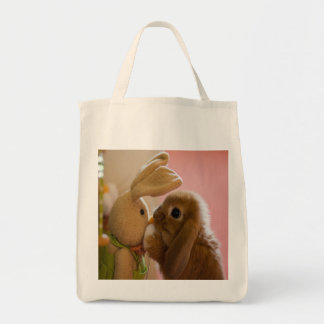 """Bunny Kissing """"Stuffed Bunny"""" Bag"""