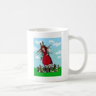 BUNNY LADY COFFEE MUG