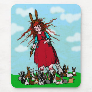 BUNNY LADY MOUSE PAD