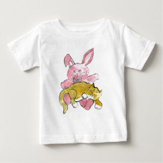 Bunny Lap Nap for Kitten Baby T-Shirt