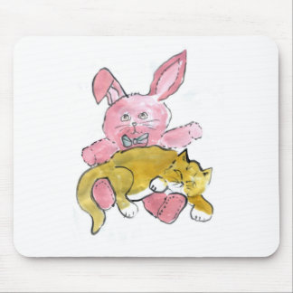 Bunny Lap Nap for Kitten Mouse Pad