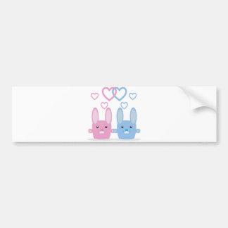 Bunny love bumper sticker