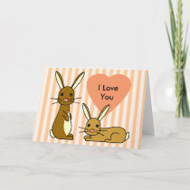 Bunny Love - Cute Rabbits Card