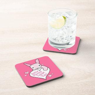 Bunny Love Drink Coaster