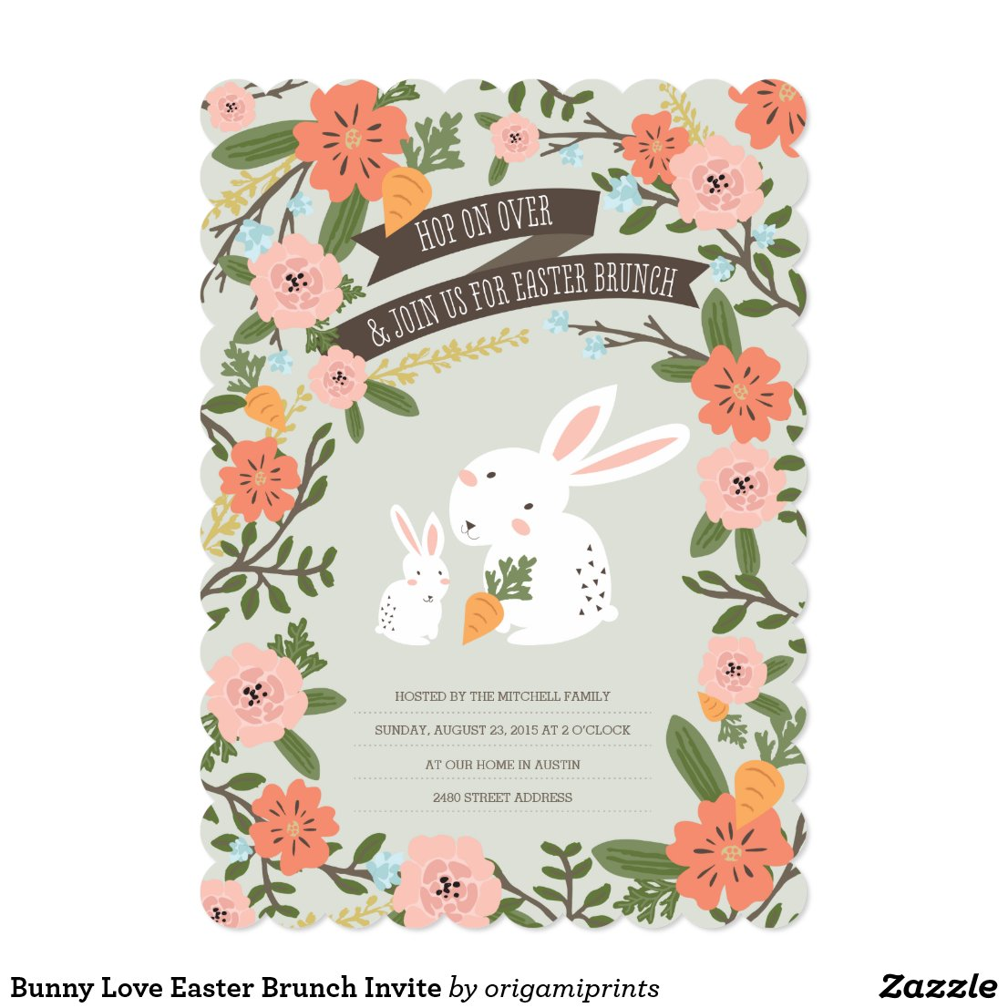 Bunny Love Easter Brunch Invite