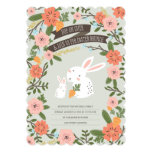 "Bunny Love Easter Brunch Invite 5"" X 7"" Invitation Card"