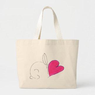Bunny love large tote bag