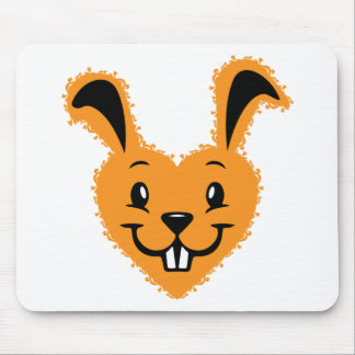 Bunny love mouse pad