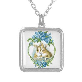 Bunny Love Square Pendant Necklace