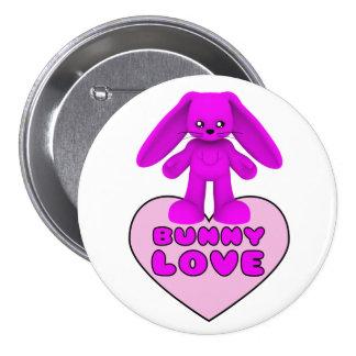 Bunny Love Pink Rabbit Cute Button