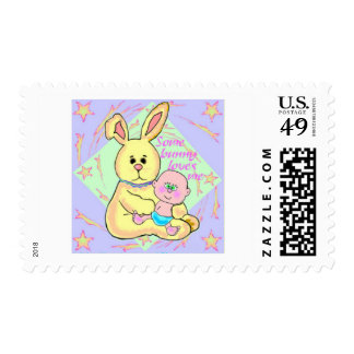 Bunny Love Postage Stamp