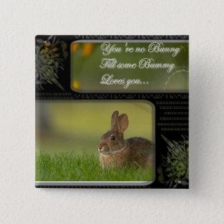 bunny love square button