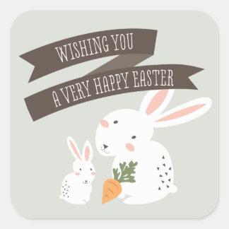 Bunny Love Square Sticker