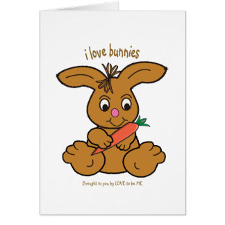 BUNNY - LOVE TO BE ME GREETING CARD