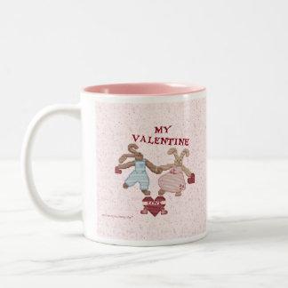 BUNNY LOVE VALENTINE Two-Tone COFFEE MUG