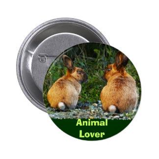 BUNNY LOVE Wild Rabbit Collection Button