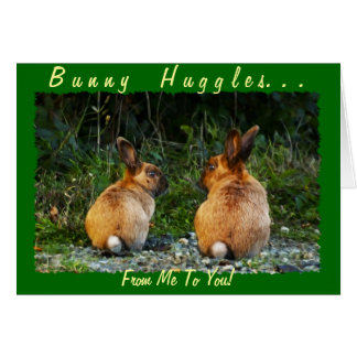 BUNNY LOVE Wild Rabbit Collection Card