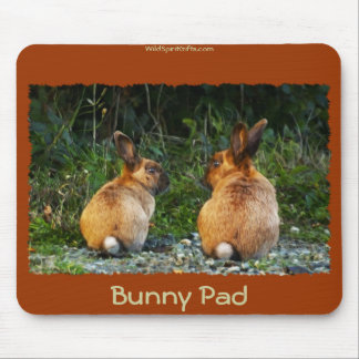 BUNNY LOVE Wild Rabbit Collection Mouse Pad