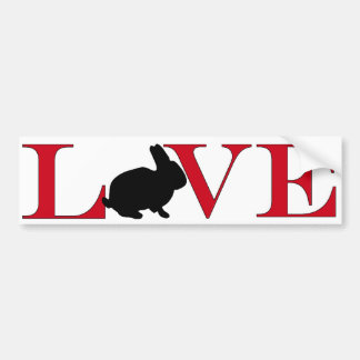 Bunny Lover Bumpersticker Car Bumper Sticker