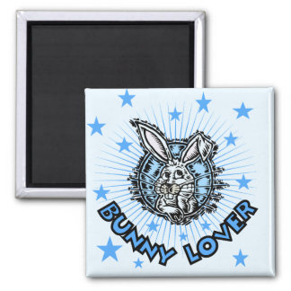 Bunny Lover T-shirts and Gifts 2 Inch Square Magnet