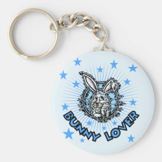 Bunny Lover T-shirts and Gifts Basic Round Button Keychain