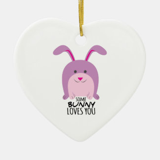 Bunny Loves You Christmas Ornaments