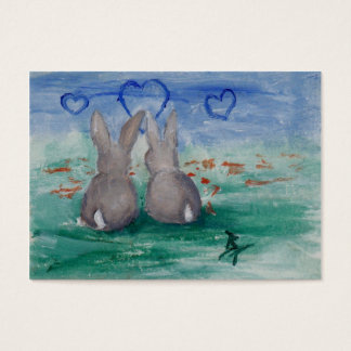 Bunny Lovin' aceo Business Card