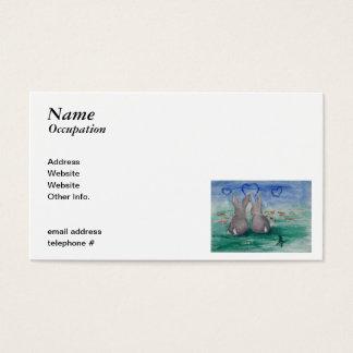 Bunny Lovin' aceo Business Card