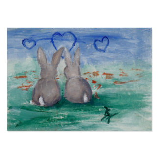 Bunny Lovin' aceo Large Business Card