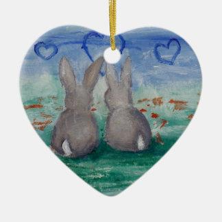 Bunny Lovin' aceo Christmas Tree Ornaments