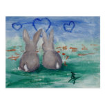 Bunny Lovin aceo Postcard