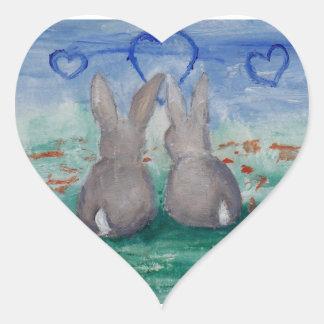 Bunny Lovin aceo Sticker