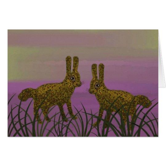Bunny Luv Sunset Card