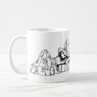 Bunny Lying in Bed Coffee Mug