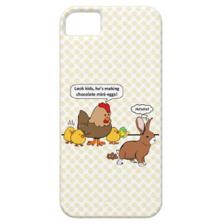 Bunny makes chocolate poop funny cartoon iPhone SE/5/5s case