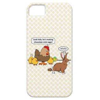 Bunny makes chocolate poop funny cartoon iPhone SE/5/5s case
