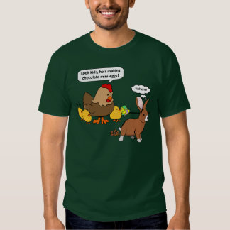 Bunny makes chocolate poop funny cartoon t shirt